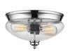 Z-Lite Amon 722F2-CH Flush Mount Light