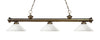 Z-Lite Riviera Antique Brass 200-3AB-AMO14 Island/Billiard Light