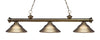 Z-Lite Riviera Antique Brass 200-3AB-SAB Island/Billiard Light