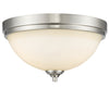 Z-Lite Bordeaux 435F3-BN Flush Mount Light