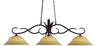 Z-Lite Chicago 129BRZ-GM16 Island/Billiard Light
