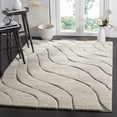Safavieh Florida Shag SG472-1180 Cream / Grey Rug