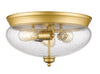 Z-Lite Amon 722F3-SG Flush Mount Light