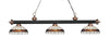 Z-Lite Rivera Matte Black & Antique Copper 200-3MB+AC-F14-1 Island/Billiard Light