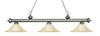 Z-Lite Riviera Antique Silver 200-3AS-FGM16 Island/Billiard Light