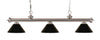 Z-Lite Riviera Brushed Nickel 200-3BN-PBK Island/Billiard Light