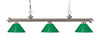 Z-Lite Riviera Brushed Nickel 200-3BN-PGR Island/Billiard Light