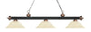 Z-Lite Rivera Matte Black & Antique Copper 200-3MB+AC-GM16 Island/Billiard Light