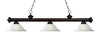 Z-Lite Riviera Bronze 200-3BRZ-WL16 Island/Billiard Light