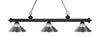 Z-Lite Riviera Matte Black 200-3MB-RCH Island/Billiard Light