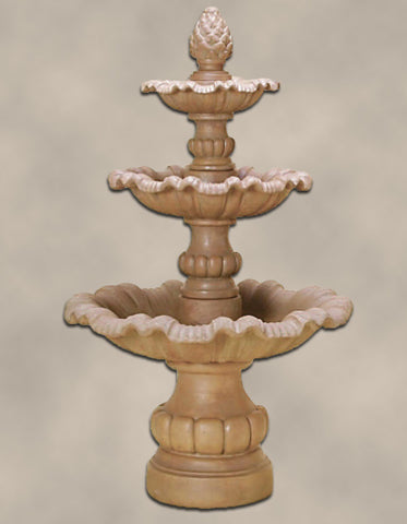 Garda Three Tier Fountain by Giannini Garden Ornaments - Elegant Water Features - 1