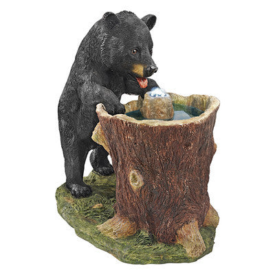 Guzzling Gulp Black Bear Garden Fountain by Design Toscano | SKU KY2093