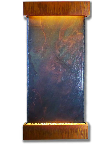 Grande Nojoqui Falls with Copper Patina Trim Fountain by Bluworld - Elegant Water Features - 1