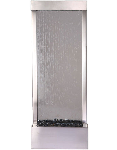Gardenfall 4' Stainless with Clear Glass Fountain by Bluworld - Elegant Water Features - 1