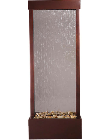 Gardenfall 4' Dark Copper with Clear Glass Fountain by Bluworld - Elegant Water Features - 1