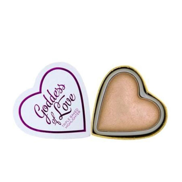 Makeup Revolution I ♡ Makeup Blushing Hearts-Goddess of Faith Highlighter
