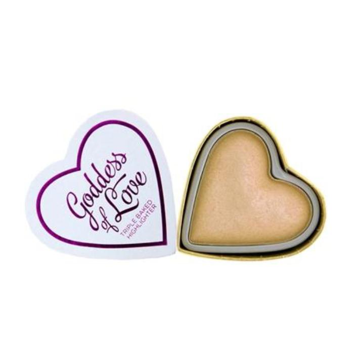 Makeup Revolution I ♡ Makeup Blushing Hearts-Golden Goddess Highlighter