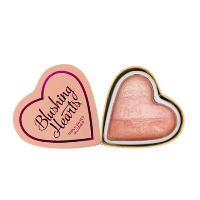 Makeup Revolution I ♡ Makeup Blushing Hearts-Peachy Pink Kisses Blusher