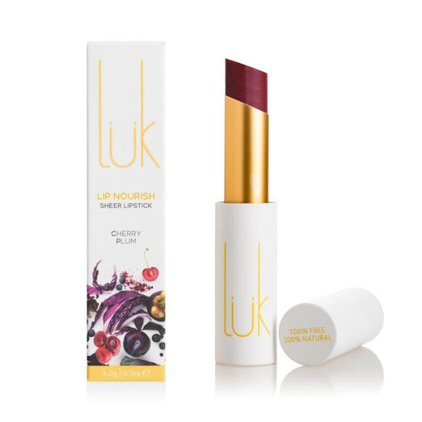 *pre-order 4 weeks* LUK Lip Nourish Cherry Plum Natural Lipstick 3g