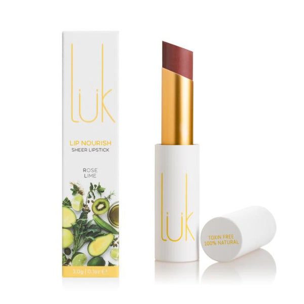 *pre-order 4 weeks* LUK Lip Nourish Rose Lime Natural Lipstick 3g