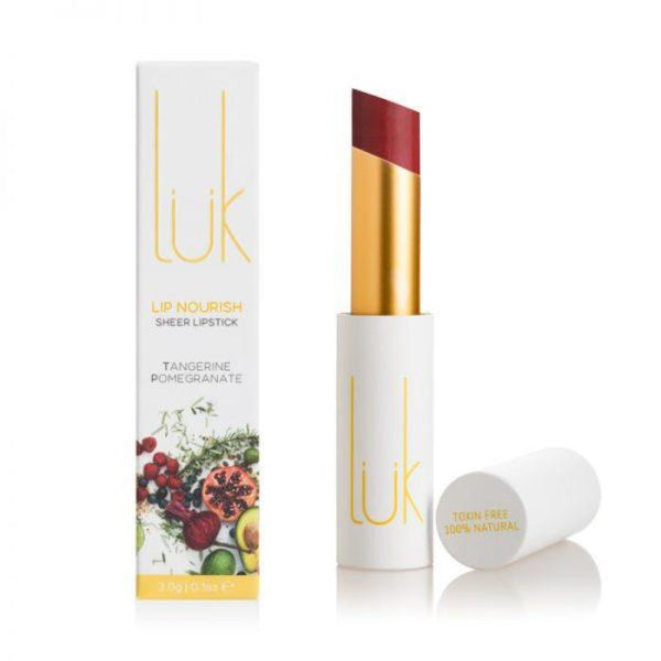 *pre-order 4 weeks* LUK Lip Nourish Tangerine Pomegranate Natural Lipstick 3g