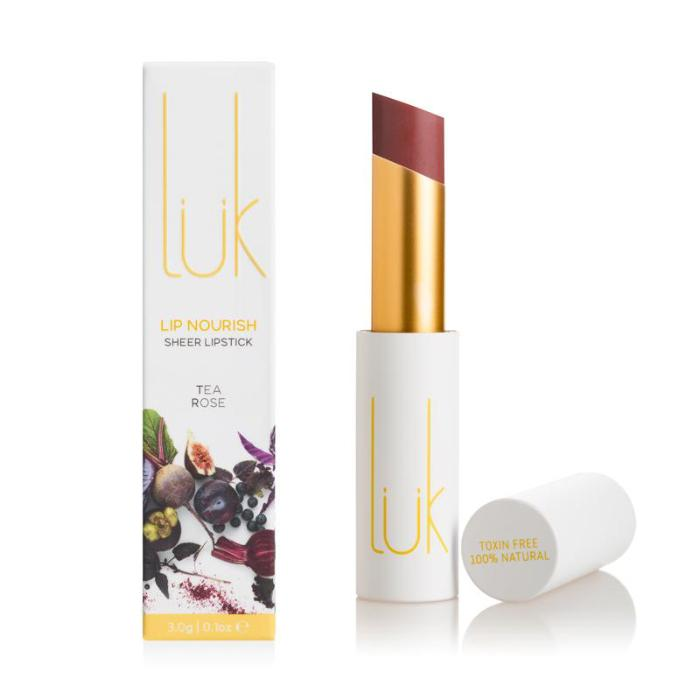 *pre-order 4 weeks* LUK Lip Nourish Tea Rose Natural Lipstick 3g