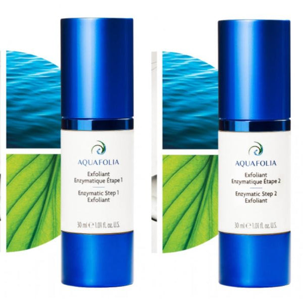 Aquafolia Exfoliant Enzymatique/Enzymatic Exfoliant Set (step1+step2)