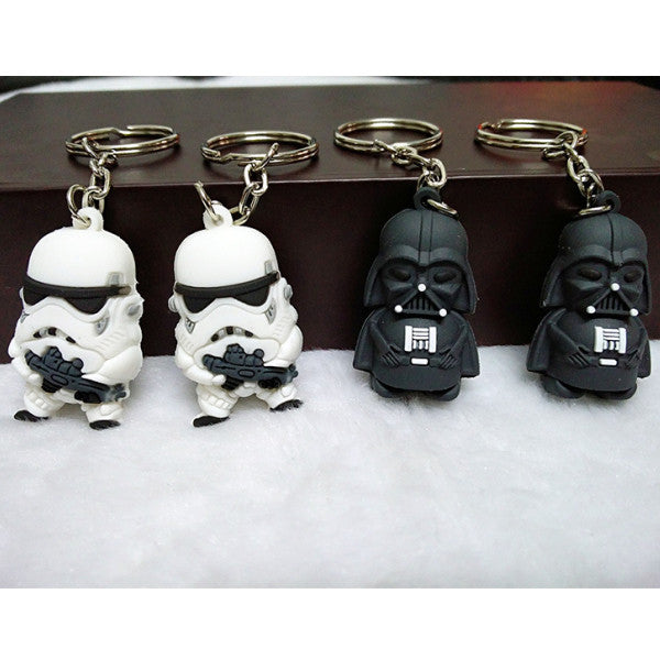 "Coupon Code of the Week ""weirdstarwars"" free Mini Trooper and Vader Keychain"