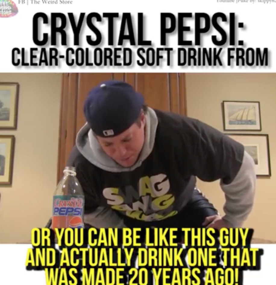 Crystal Pepsi: Clear-Colored Soft Drink From the 90s Returns to US Stores for Limited Run