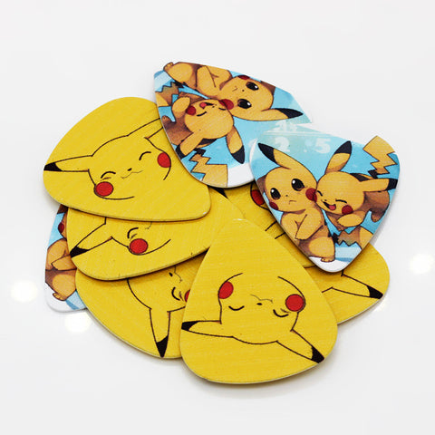 Pikachu Pokemon Guitar picks  0.71mm - the Weird Store