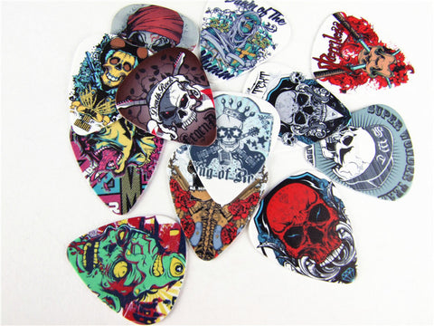 psychedelic skull guitar picks! - the Weird Store