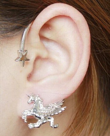 "Unicorn ""Over the Ear"" Left Earring - the Weird Store - 1"