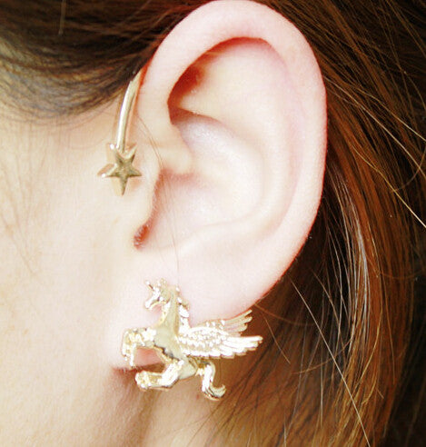 "Unicorn ""Over the Ear"" Left Earring - the Weird Store - 4"