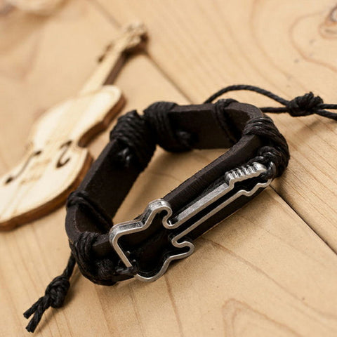 Guitar Leather Bracelet (Free Shipping)