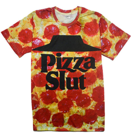Pizza Slut T-Shirt - the Weird Store - 1