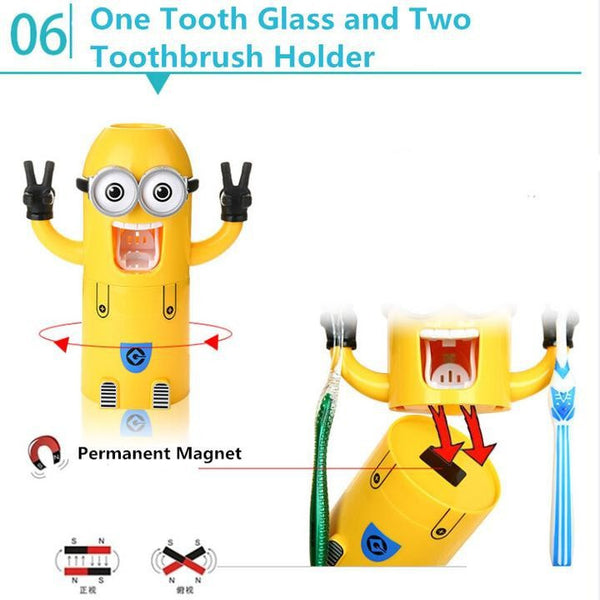 Minions AUTOMATIC TOOTHPASTE DISPENSER (Free Shipping) - the Weird Store - 5