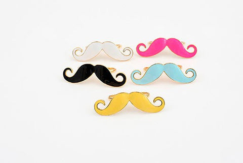 Colored Mustache Ring (Free Shipping) - the Weird Store - 1