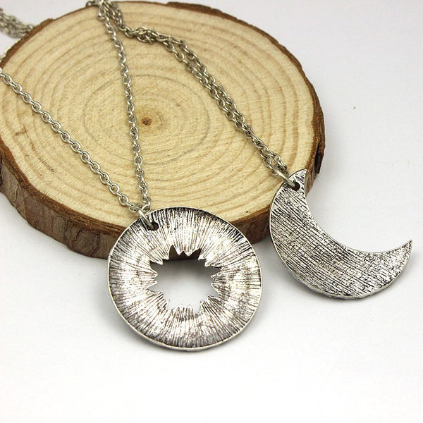 His&Hers Khal/Khaleesi Moon Necklaces Game Of Thrones (Free Shipping World Wide) - the Weird Store - 2