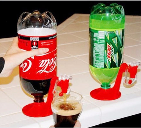 Mini Upside Down Drinking Fountains Cola Beverage Switches Drinkers Hand Pressure Water Dispenser - the Weird Store - 1
