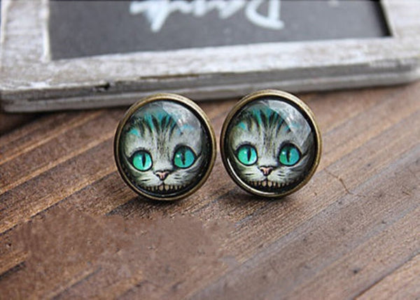 Alice Cat Earrings (Free Shipping) - the Weird Store - 1