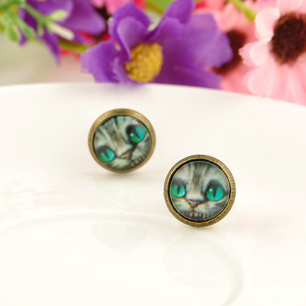 Alice Cat Earrings (Free Shipping) - the Weird Store - 5