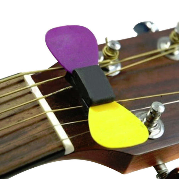 professional guitar headstock pick holder rubber free shipping the weird store. Black Bedroom Furniture Sets. Home Design Ideas