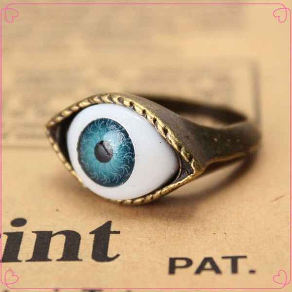 Retro Vintage Evil Eye Finger Ring (Free Shipping) - the Weird Store - 2