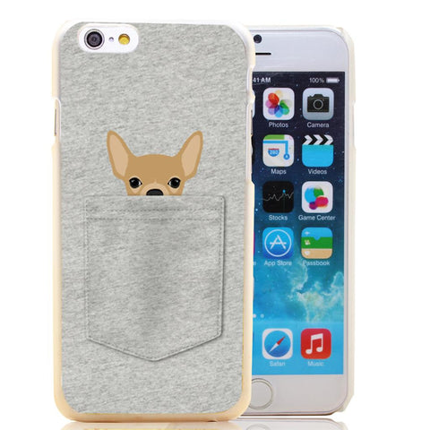 Chihuahua Pocket Transparent Hard Case Cover for iPhone 6 6s plus 5 5s 5c 4 4s - the Weird Store - 1