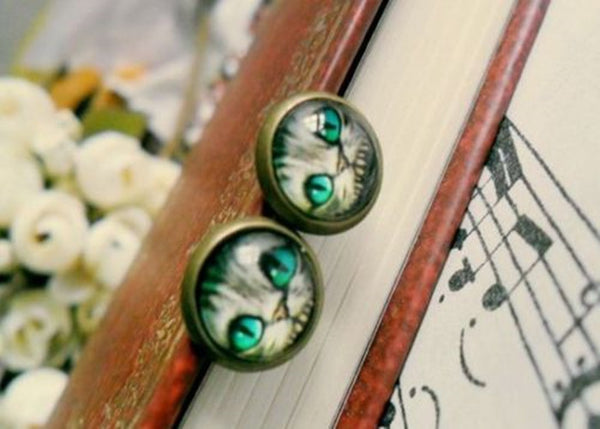 Alice Cat Earrings (Free Shipping) - the Weird Store - 3