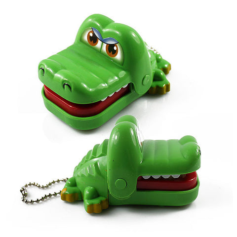 Plastic Crocodile Dentist Bite With Keychain Mouth Dentist Game Toy - the Weird Store - 1