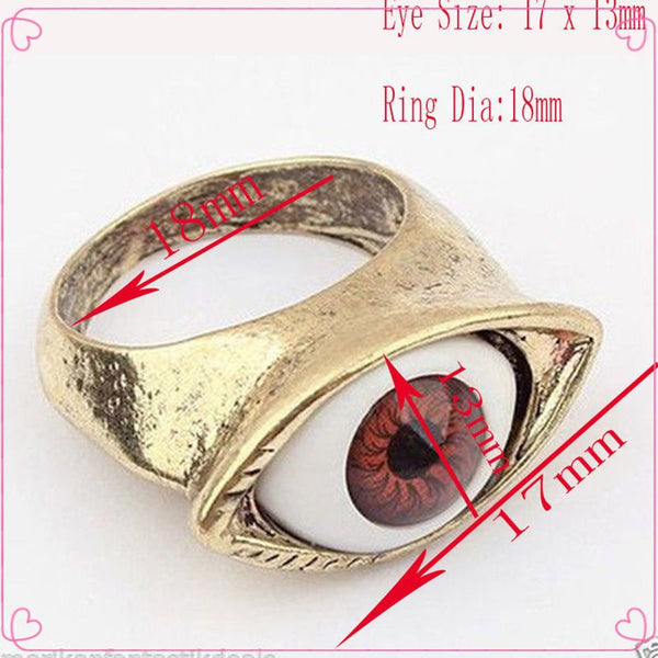 Retro Vintage Evil Eye Finger Ring (Free Shipping) - the Weird Store - 6