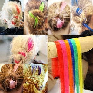 Fashion hair extension for women Long Synthetic Clip In Extensions Straight Hairpiece Party Highlights Punk hair pieces - the Weird Store - 2