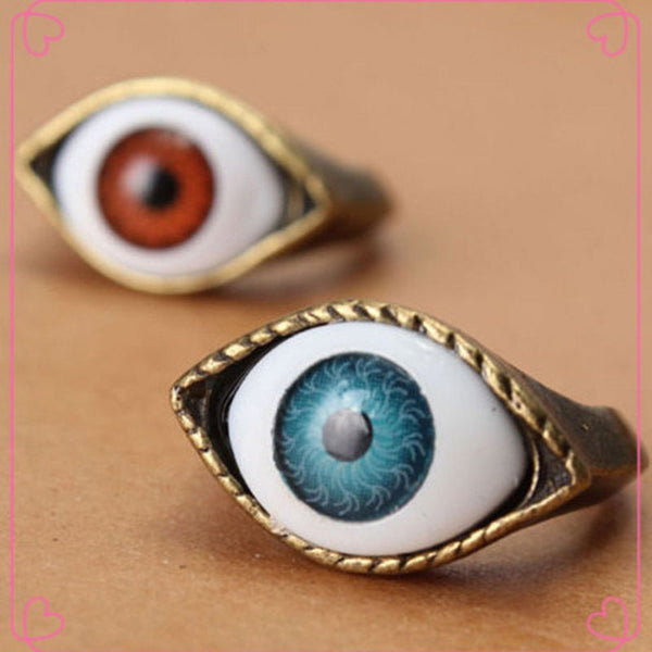 Retro Vintage Evil Eye Finger Ring (Free Shipping) - the Weird Store - 4
