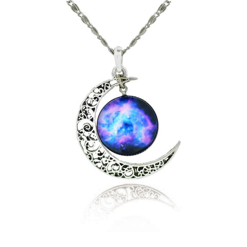 Galaxy Moon Necklace (Free Offer)